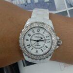 原裝 CHANEL J12 38mm 陶瓷 鑽圈 自動 女錶 9成5新 特價出清 ZR513