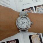 原裝 CARTIER 卡地亞 PASHA 不銹鋼 鑽圈 自動 男女錶 9成5新 喜歡價可議 ZR515